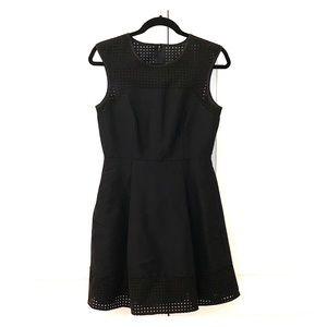 J Crew Cotton/Silk Perforated A-Line Dress